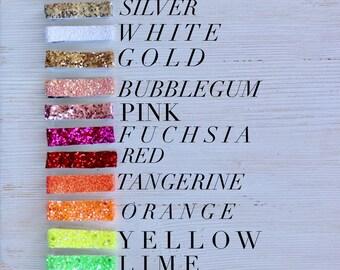 Clips- barrette - olleigh clip- glitter clip- lined clip- hair accessory