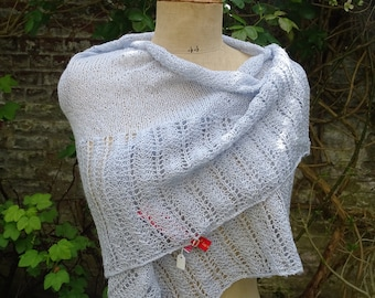 Knitted lace, symmetrical Baby Alaga and silk shawl