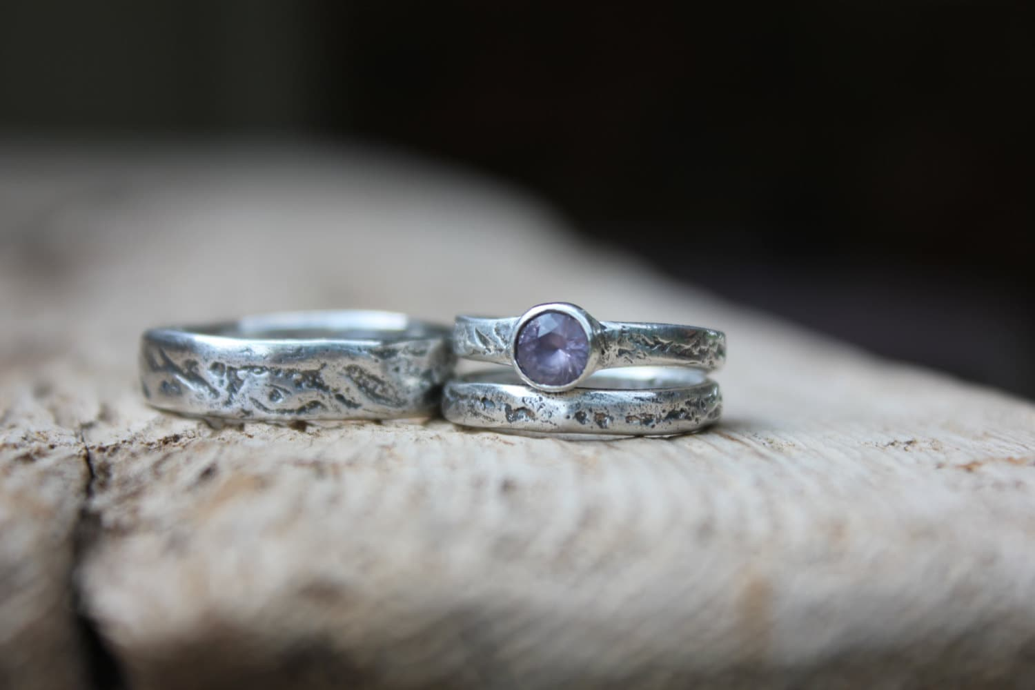 zoom - Unique Wedding Ring Set