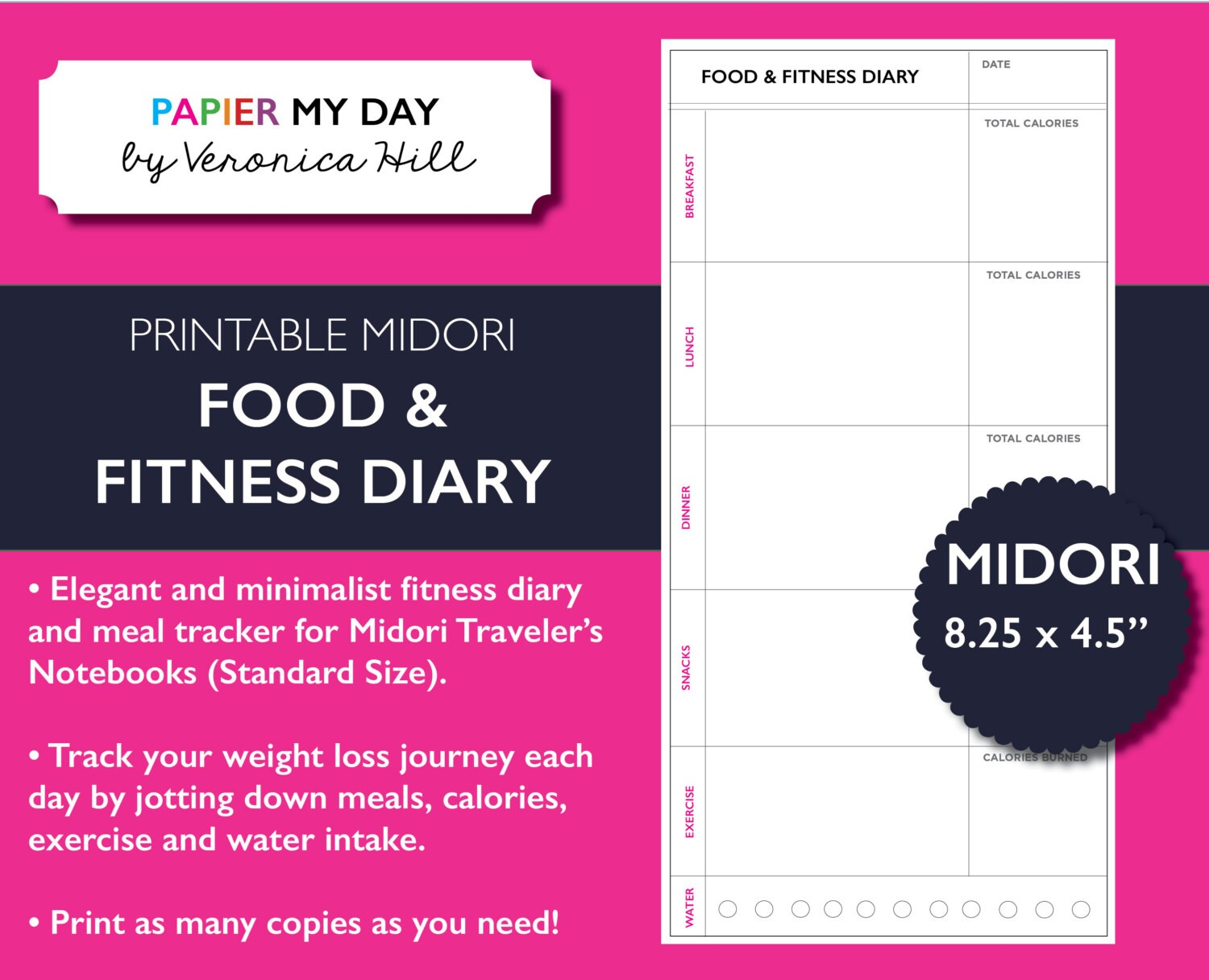 fitness and food journal