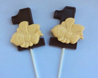 30 chocolate 1st birthday Bee pops