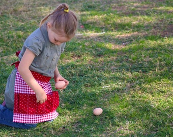 Toddler Egg Apron For Kids--Made to Order