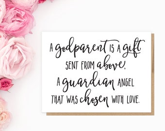 Printable Will You Be My Padrinho Card | Printable PDF Files | Digital Download | A Godparent is a Gift | Instant Download