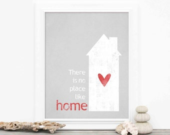There is No Place Like Home - Digital Art Typography Print