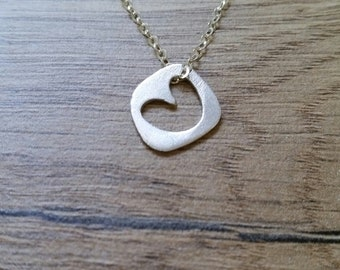 Heart charm - Pendant silver - 925 Sterling silver charm - Handcrafted - Silver tiny charm - Tiny charms - ideal gift for any occasion