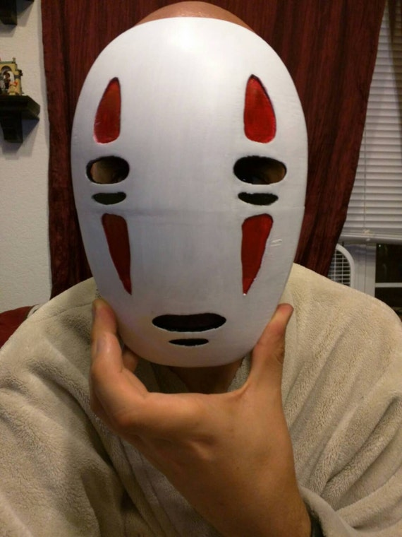 No face mask cosplay spirited away 3D printed and hand