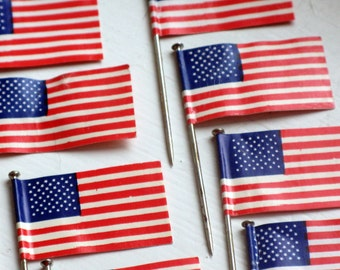 vintage american flag pins