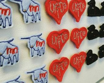 Minnesota Magnets - Handmade - Made in Minnesota - gift - MN - decoration - Loon - State - Babe - uff da - heart - cabin - 6 pack - teacher