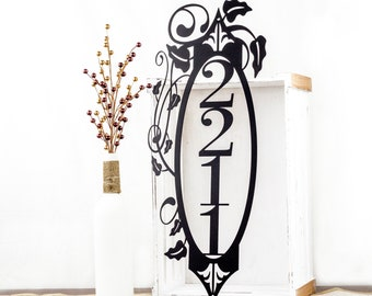 Vertical House Number | Metal Sign | Outdoor Sign | Metal Wall Art | Custom Sign | House Numbers | Metal Address Sign