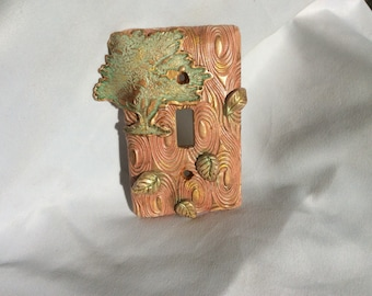 Swirling Leaves Switchplate