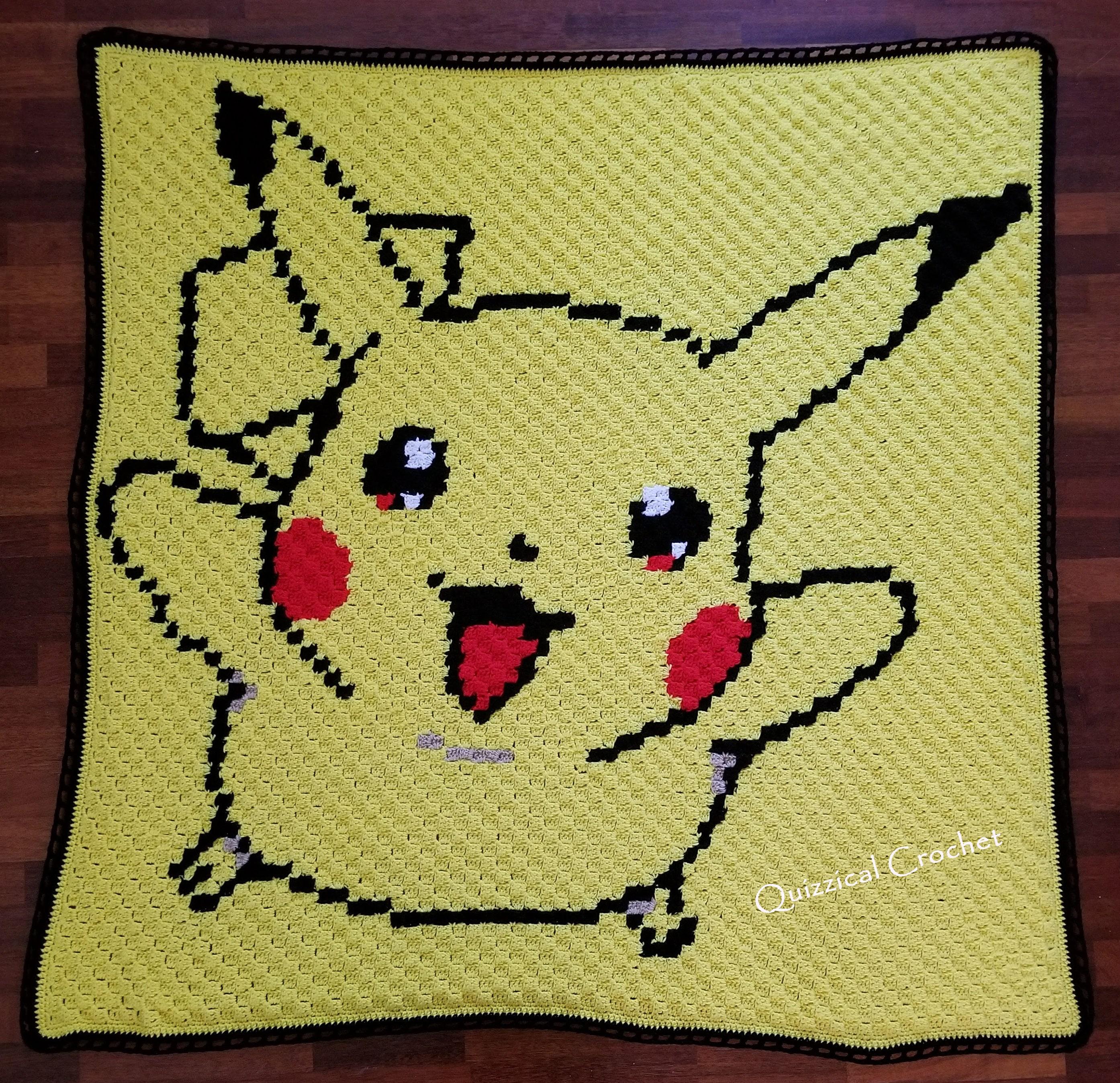 Pikachu Corner to Corner Crochet Blanket Pattern
