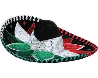 Sombrero Charro Rojo/Blanco/Verde-600211