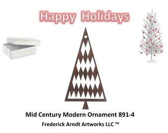 891-4 Mid Century Modern Christmas Ornament