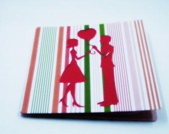Boyfriend Card-Be Mine-Valentine Card-Love Card-Girlfriend Card-Love Card for Him-Love Card for Her-Valentines Day Card-Valentine Heart