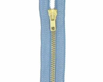 brass, 18cm Blue jean closure