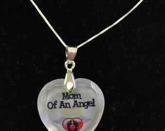 Memorial Gifts, Angel Necklace, Memorial Jewelry, Loss Of Mother, Personalized Jewelry, Remembrance Jewelry, Loss Of Loved One, Angel Mom,