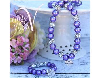 Super Sparkle Big sister Necklace/Bracelet set.  Sister gift. Little girl gift. New baby gift. Big sister gift.