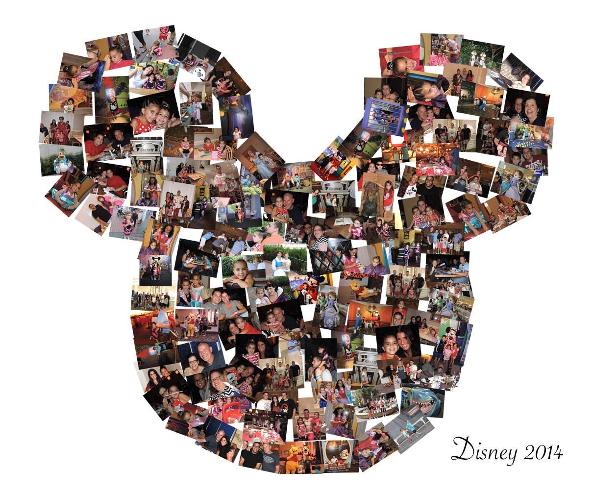 Disney collage mickey mouse ears custom canvas mosaic collage zoom jeuxipadfo Choice Image