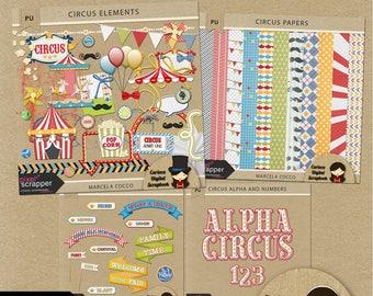 Circus Digital Scrapbooking Kit