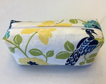 Cotton Pencil Case/Holder, Makeup Accessory Bag