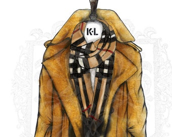 Burberry Trench Coat print, Burberry Illustration, Burberry London, Fashion Illustration Bedroom and Home Décor Chic