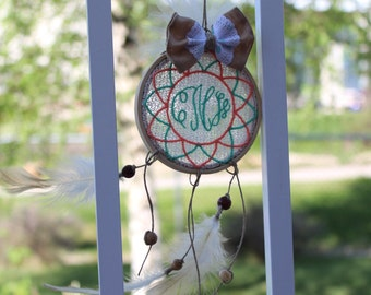 Dream Catcher, PERSONALIZED Custom Dream Catcher, Car Hanger, Wall Decor, Personalized Birthday Gift, Bohemian, Nursery Decor, 3.5 inches