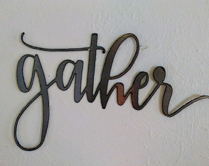 GATHER Wall Sign
