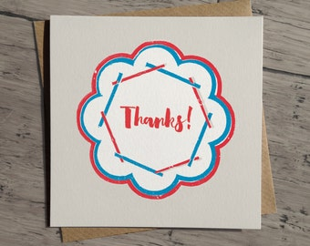 Thank You Card, thanks card, card for thank you, retro thank you card, thoughtful card, matching wrapping paper, all purpose card