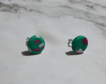 Small polymer clay earrings, minimalist earrings, geometric earrings, clay earrings