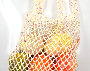 A string bag, avoska, linen bag, made in Russia, bag of linen yarn, crochet bag, farmers market bag, linen crochet yarn