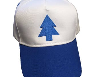 Blue Pine Tree Cosplay Embroidered 5-Panel Hat/Cap