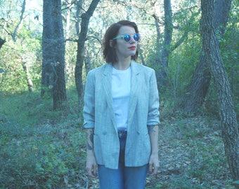 Blazer jacket gray wool size 38 Medium
