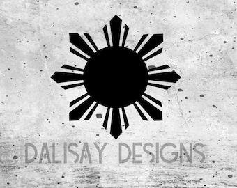 Filipino Sun Vinyl Decal