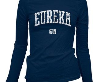 Women's Eureka 707 California Long Sleeve Tee - S M L XL 2x - Ladies' Eureka T-shirt, Humboldt Bay, Humboldt County - 3 Colors