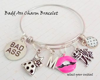 Best Friend Gift, Charm Bracelet Gift, Gift for BFF, Personalized Gift for Her, Girl Birthday Gift, Gift for Best Friend, Personalized Gift