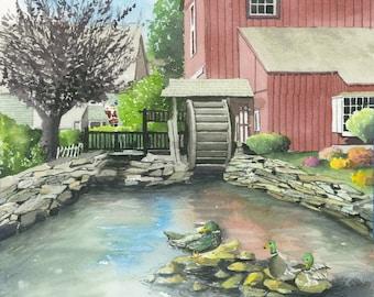 Mystic Village Duck Pond