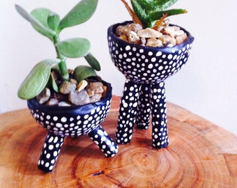 small handmade ceramic plant pot