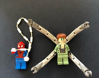 100% genuine pre-owned Lego Spider-Man and Doctor Octopus minifigures