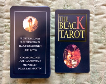 The Black Tarot, Illustrations de Luis Royo, Made in Spain, Cards and Instruction booklet in 4 Languages.