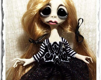 OOAK Gothic Art Doll - Creepy Cute
