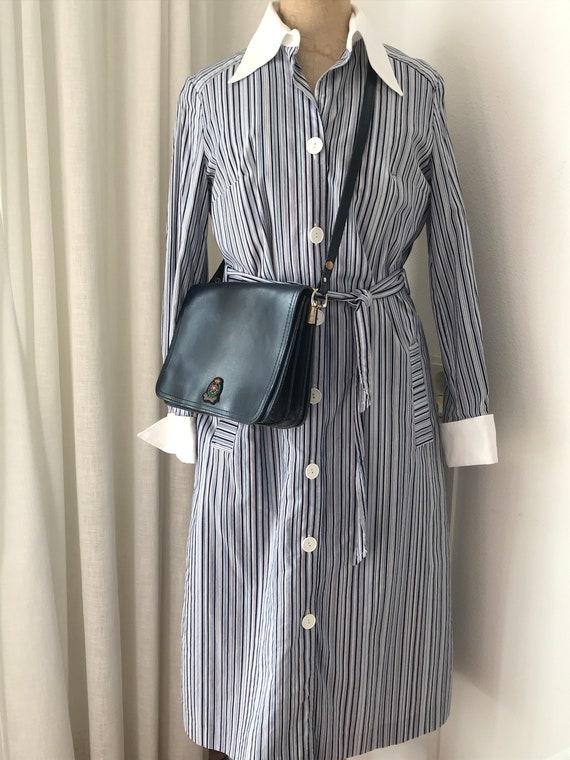 Vintage shirt dress | L'Espoir | striped | shirtdress | cotton | eighties | size EUR 38