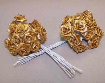 Gold Ribbon Roses