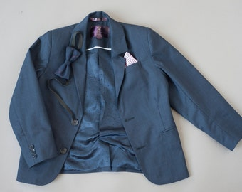 Blue boys suit jacket