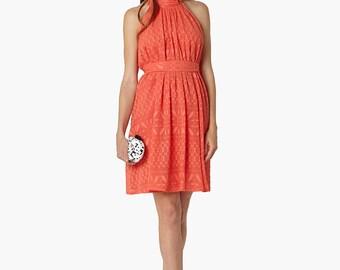 Victoria Dress - Coral - Summer Dress