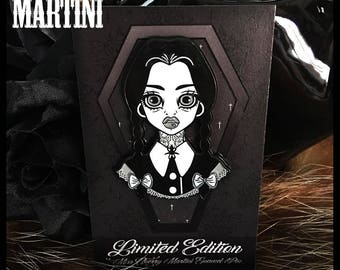 Wednesday LIMITED EDITION Enamel Pin By Miss Cherry Martini