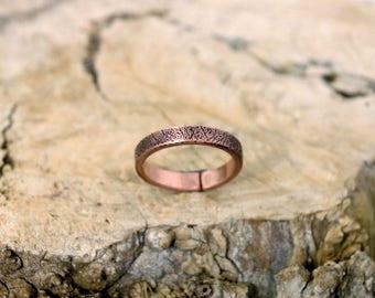 11 1/4 plus, Copper Ring, Arthritis Ring, Copper Jewelry, Adjustable Ring, Mens copper Ring - Womens copper Ring - Rustic copper Ring - USA