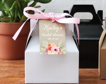 12 - Bridal Shower Favor Boxes - Bouquet Tag Design - bridal shower favors | Floral bridal shower tags | baby shower favors - ANY OCCASION