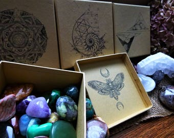 Crystal & Mineral Mystery Boxes: Geologic or Metaphysical Information Included | Multiple Tiers Available
