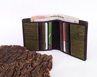 Charcoal Cork leather wallet - Christmas Gift
