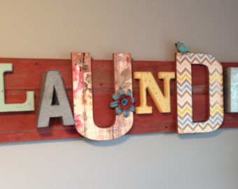 Barn Wood Laundry Sign